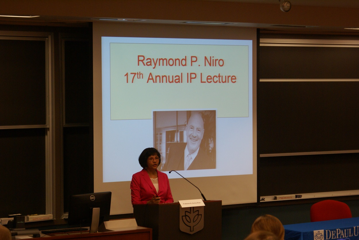 Professor Zorina Khan Speaks at CIPLIT's 17th Niro Distinguished IP Lecture and Luncheon