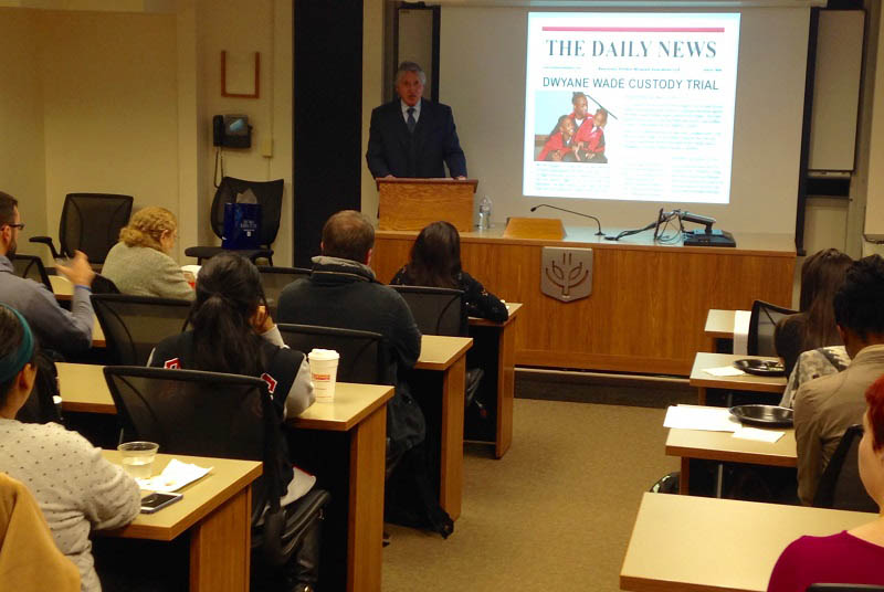 Jim Pritikin explains the concept of parental alienation to DePaul's family law students.
