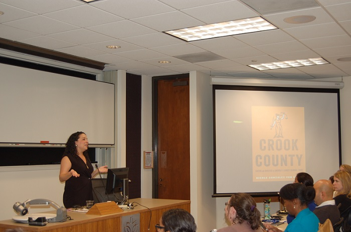 Author Nicole Gonzales Van Cleve discussed her book Crook County at DePaul Law