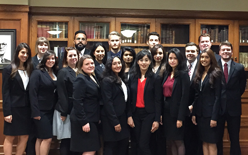 2016 moot court team